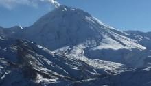 Japan skiing volcano scene